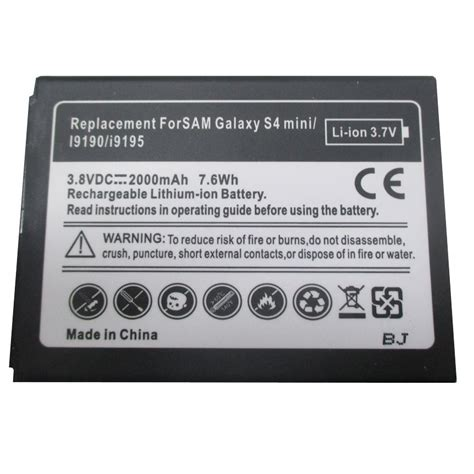 Baterai Battery Samsung S4 Mini I9190 Original Baterai Battery baterai samsung galaxy s4 mini gt i9190 oem black jakartanotebook