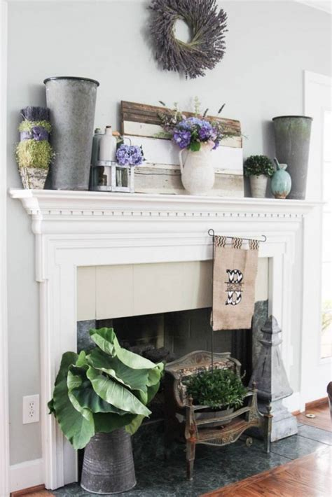 awesome summer mantel decor ideas digsdigs