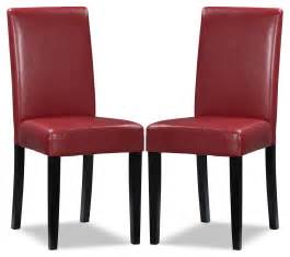 Accent Dining Chairs Faux Leather Accent Dining Chair Set Of 2 The Brick