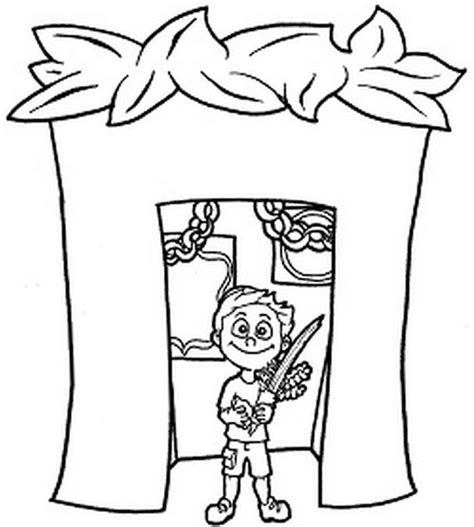 Sukkot Coloring Pages For Kids Family Holiday Net Guide Sukkot Coloring Pages