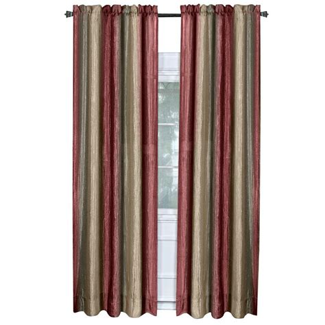 Burgundy Color Curtains Achim Burgundy Ombre Curtain Panel 50 In W X 84 In L Ompn84bu06 The Home Depot