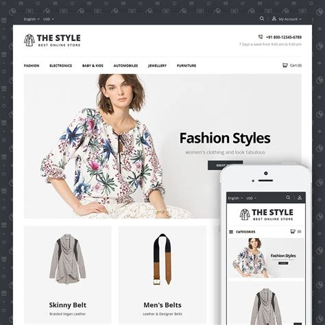 fashion shop template the style fashion store prestashop addons