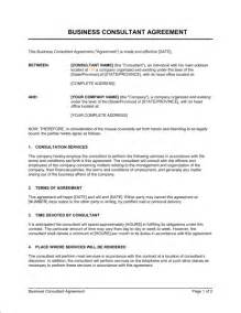 consulting contracts templates consulting agreement template sle form