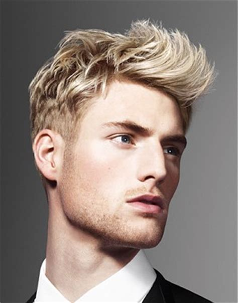 mens hairstyles blonde highlights mens hairstyles golden quiff mature man contemporary
