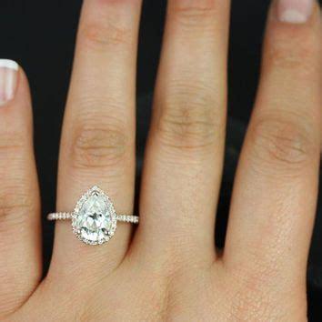 Aquamarine 1 50 Crt best moissanite pear engagement ring products on wanelo
