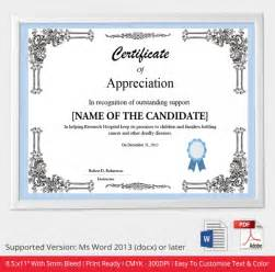 free appreciation certificate templates for word 30 free printable certificate templates to