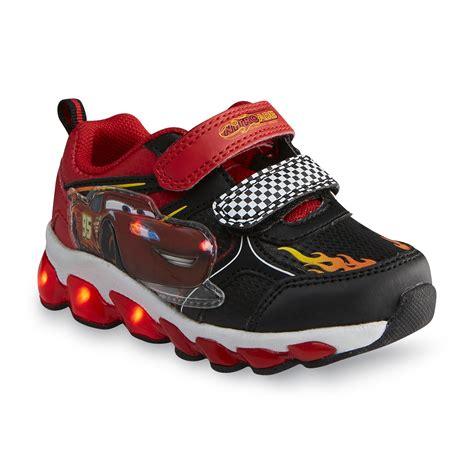 Disney Toddler Boy S Cars Black Light Up Sneaker