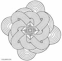 Kaleidoscope Coloring Pages Free Printable sketch template