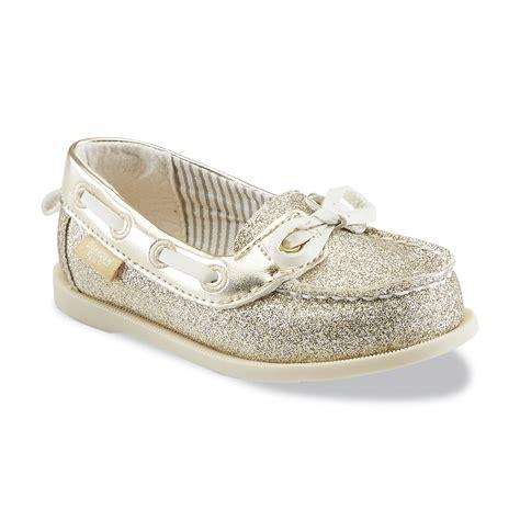 oshkosh boat shoes oshkosh toddler girl s georgie 2 gold glitter boat shoe