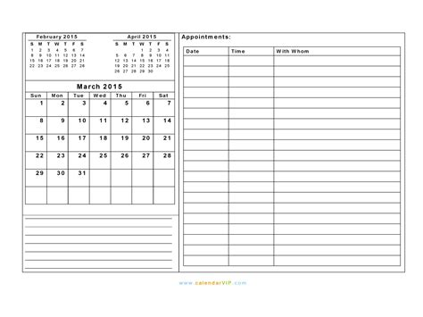 march 2015 calendar blank printable calendar template in