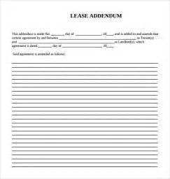 sle lease addendum form 14 free documents