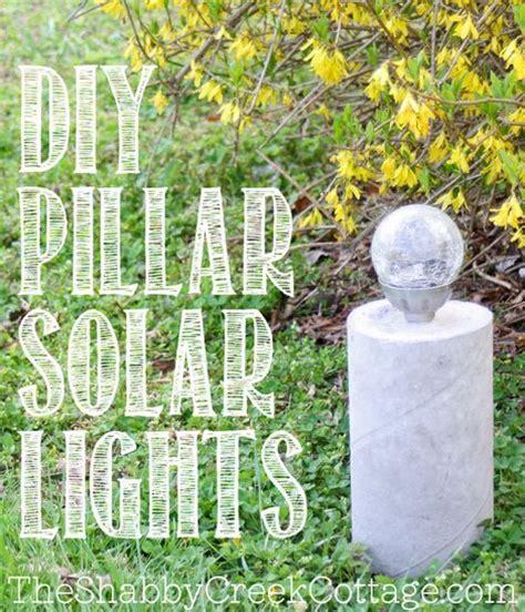 Diy Solar Garden Lights Diy Pillar Solar Lights Homestead Survival