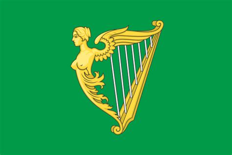 file green harp flag of ireland svg wikimedia commons