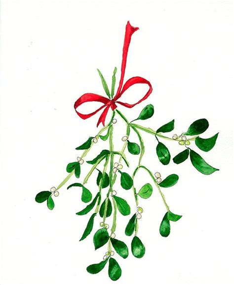 oh ho the mistletoe print from my original watercolor pen