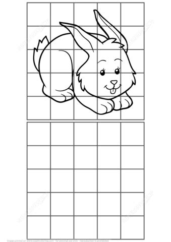 Copy Picture of Rabbit Puzzle | Free Printable Puzzle Games