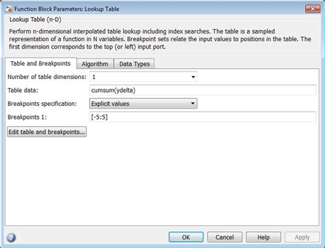 Matlab Lookup Table by Estimate Constrained Values Of A Lookup Table Matlab