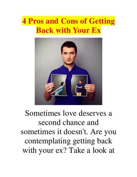 4 Pros And Cons Of Getting Fit With Friends 4 pros and cons of getting back with your ex