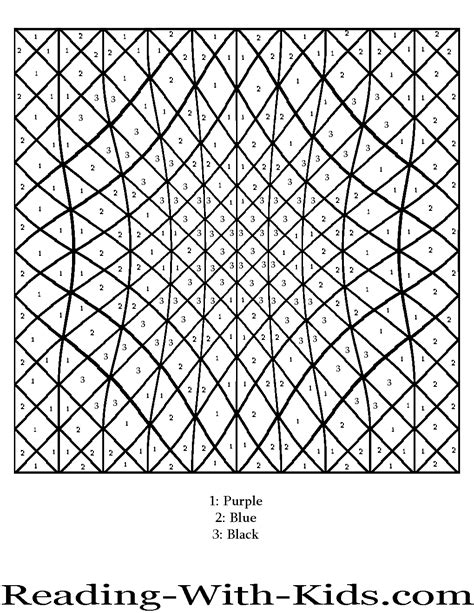 color with n color by number coloring pages
