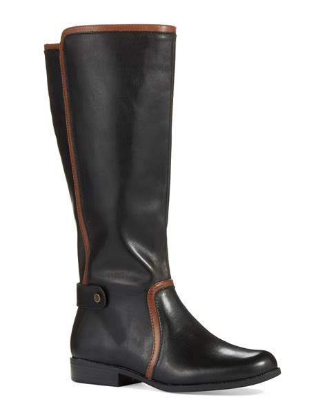black boots wide calf klein wide calf cybele boots in black black