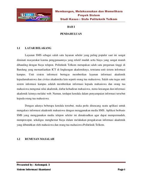 Format Penulisan Makalah Studi Kasus | makalah sistem informasi akuntansi proyek sistem studi