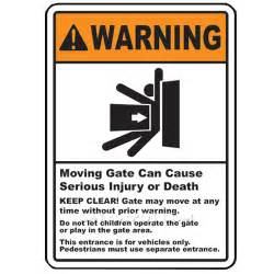 Place On A Pedestal Duragate Automatic Gate Warning Sign