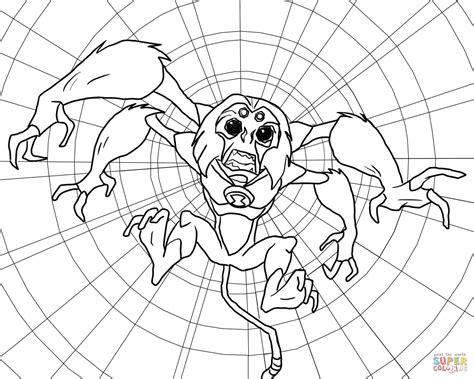 ben 10 coloring pages spider monkey ben 10 alien force spidermonkey coloring page free
