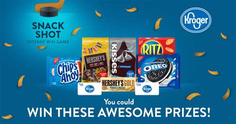 Kroger Monthly Sweepstakes - kroger snack shot instant win game 2018 over 45 000 in prizes