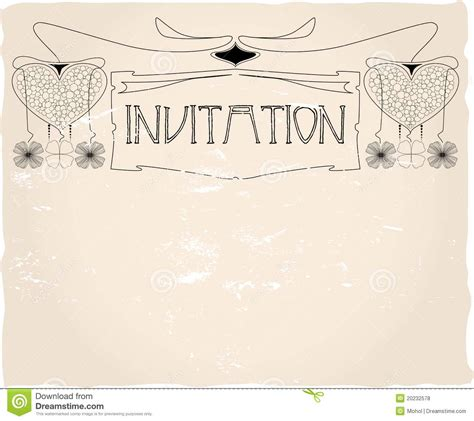 invitation template stock vector image of birthday
