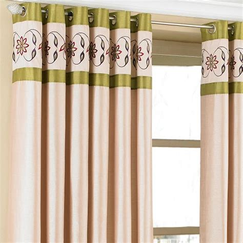 cream green curtains riva home petra floral embroidered faux silk eyelet