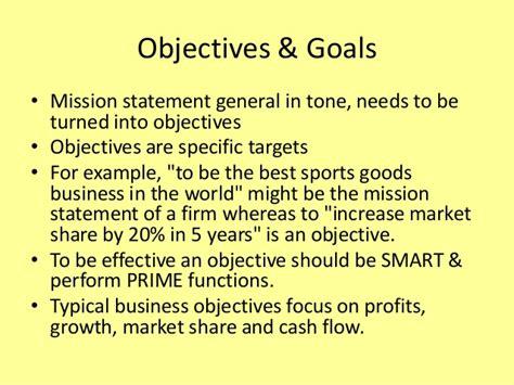 objectives of mission statement vision mission for slideshare