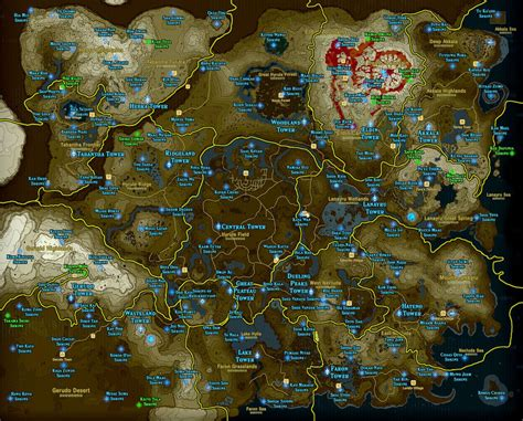 printable zelda map zelda breath of the wild shrine maps and locations polygon