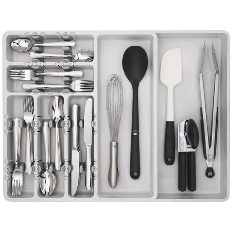oxo expandable drawer organizer oxo expandable drawer organizer in kitchen drawer organizers