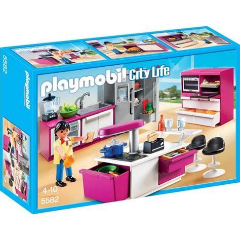 cuisine playmobil playmobil 5582 cuisine avec 206 lot achat vente univers