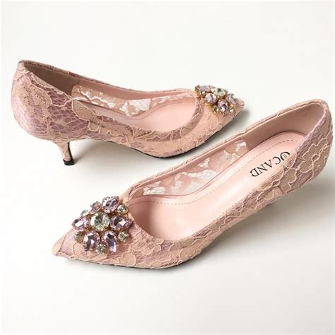 Blush Bridesmaid Shoes by Beaded Bridal Wedding Shoes 2017 Blush Lace Shoes