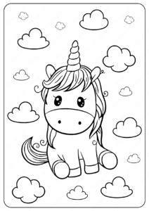 unicorn printable coloring page
