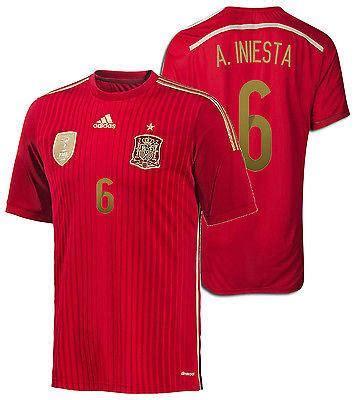 Adidas Spain Home Jersey Original Word Cup 2014 Size M adidas spain a iniesta home jersey fifa confederations