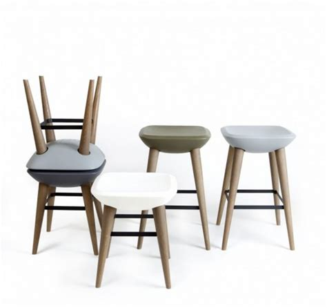 modern comfortable stool and chair design pebble by