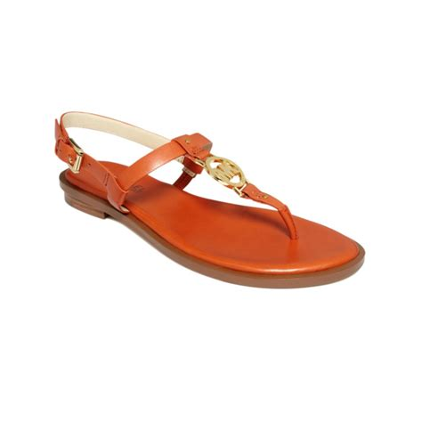orange sandals for michael kors flat sandals in orange lyst