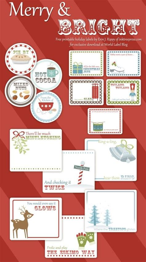 printable label templates christmas holiday labels and more free printable templates