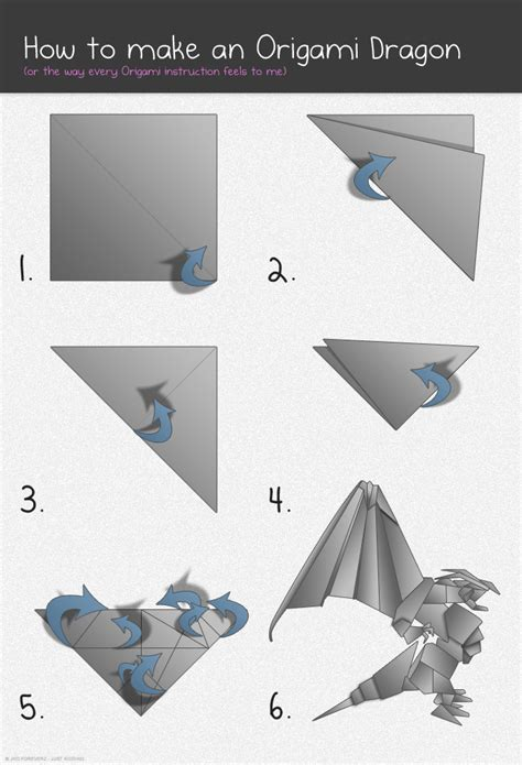 How To Make Paper Dragons - pin origami with 27 steps a printable template on