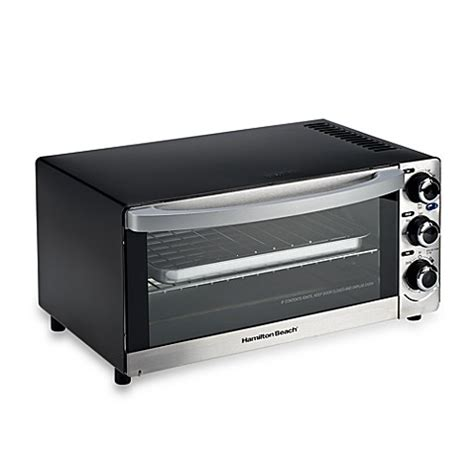 bed bath beyond toaster buy hamilton beach 174 6 slice toaster oven from bed bath