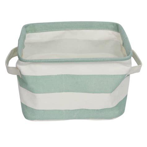 Storage Basket Green aqua green stripe storage basket tutti decor ltd
