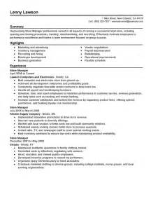best store manager resume exle livecareer