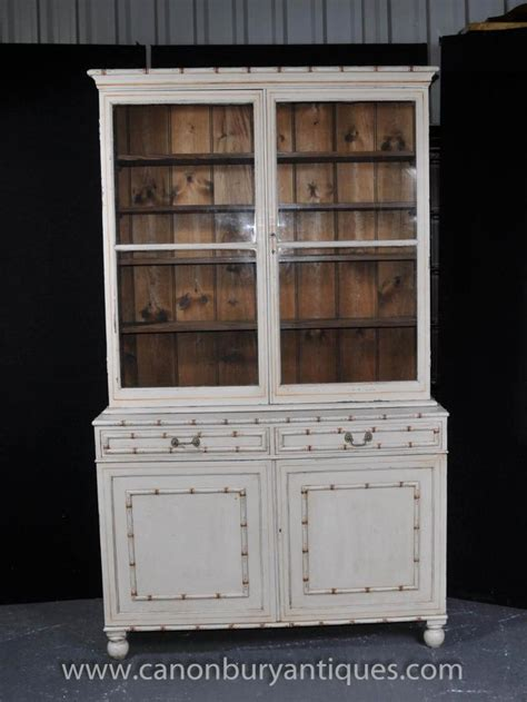 dresser with bookcase hutch painted english kitchen dresser bookcase glass fronted cabinet