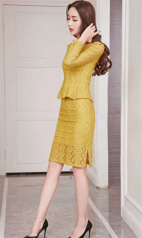Rok Span Pendek 1 setelan rok span pendek dan atasan brokat cantik 37a23 4 dise 209 o y confeccion de ropa