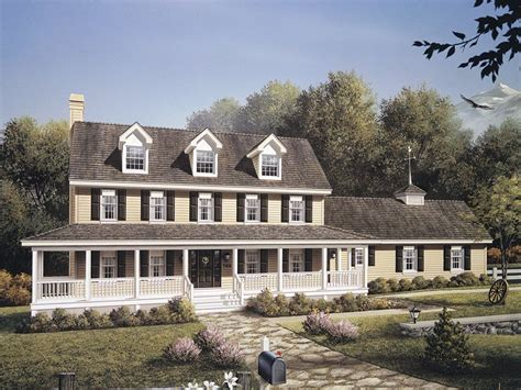colonial farmhouse with wrap around porch wilkescreek colonial house plan alp 09f4 chatham