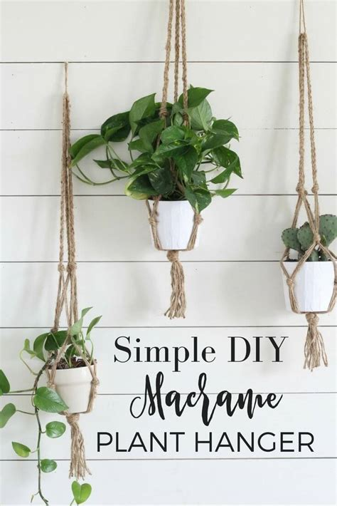 Diy Macrame Plant Holder - 37 best diy wall hanging ideas and designs for 2018