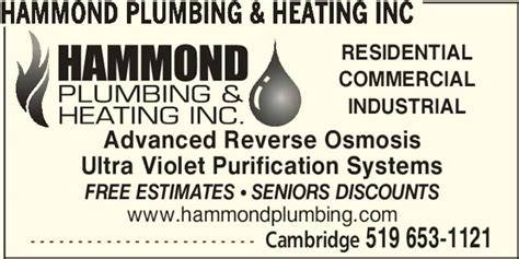Hammond Plumbing And Heating by Hammond Plumbing Heating Inc Canpages