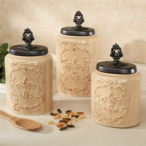 kitchen canisters set fioritura ceramic kitchen canister set