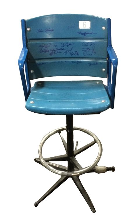 Stadium Seat Bar Stool lot detail multi signed bar stool made w an authentic